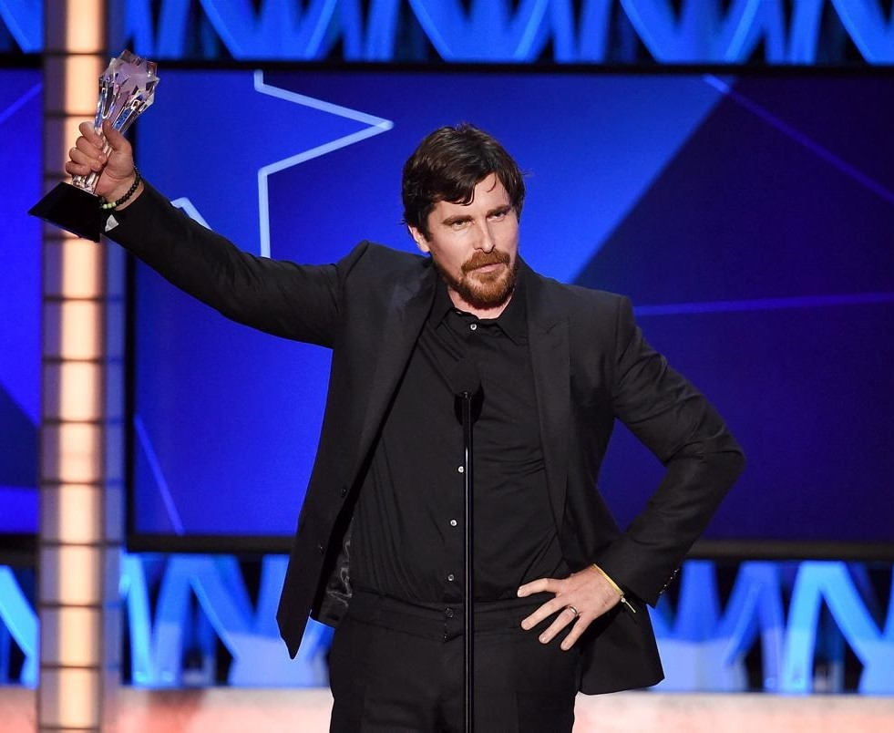 Christian Bale Shocks With Critics Choice Award Makeout Session | Christian Bale