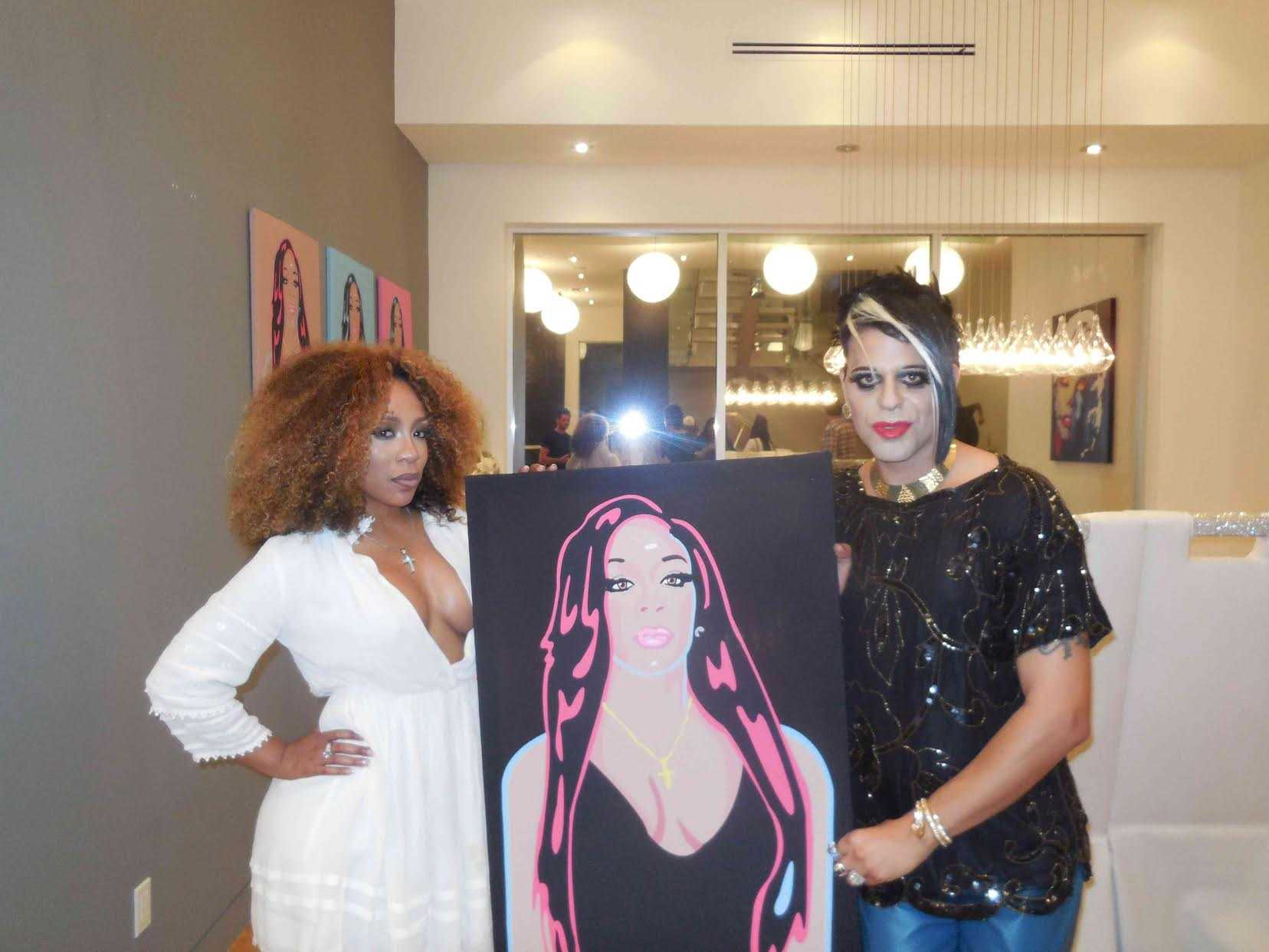 Pop Art Artist Sham Ibrahim Appearances on 'K Michelle's My Life' | Sham Ibrahim