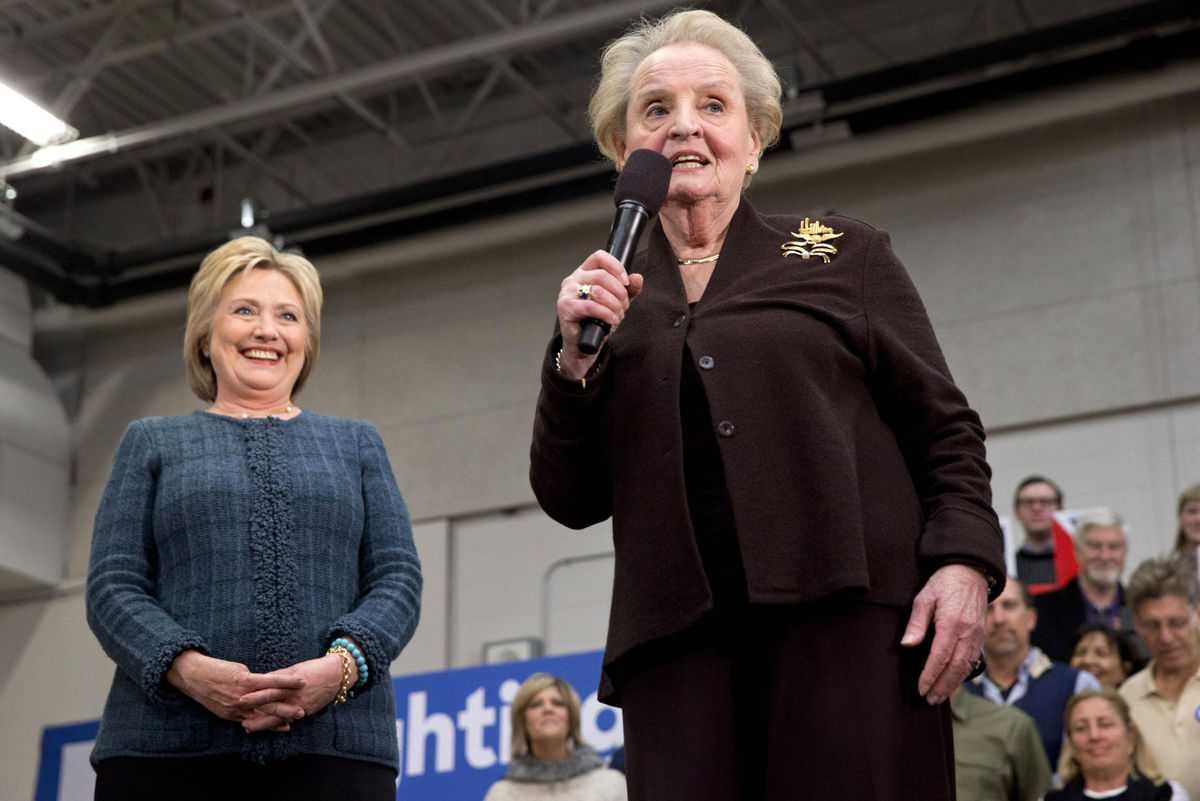 Male Perspective: Gloria Steinem And Madeleine Albright Chastise Women Voters | Albright