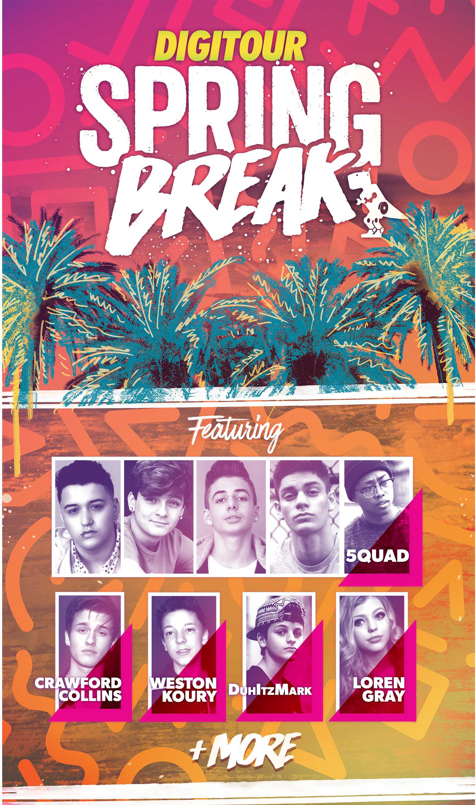 DigiTour Media, 5Quad, DuhItzMark, And More Are Bringing Spring Break To YOU | DigiTour