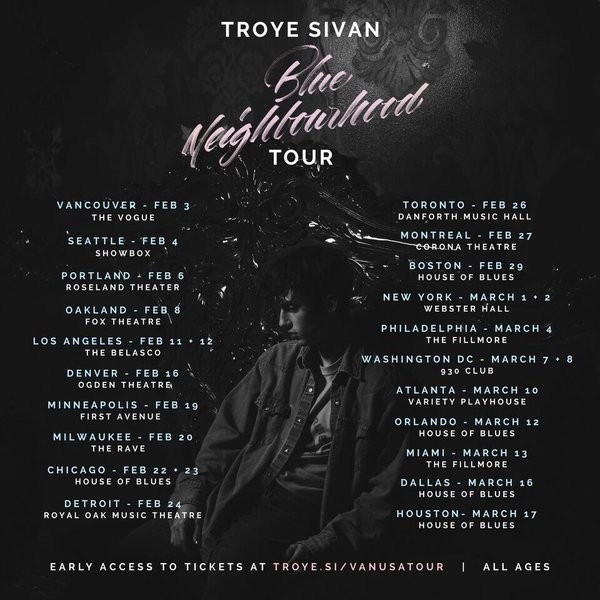 Troye Sivan Glows In The Bright Lights Of His Blue Neighbourhood Tour | Troye Sivan