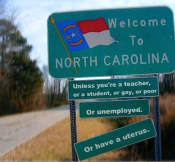 Twitter Shows North Carolina Absurdity Of Bathroom Laws | north carolina
