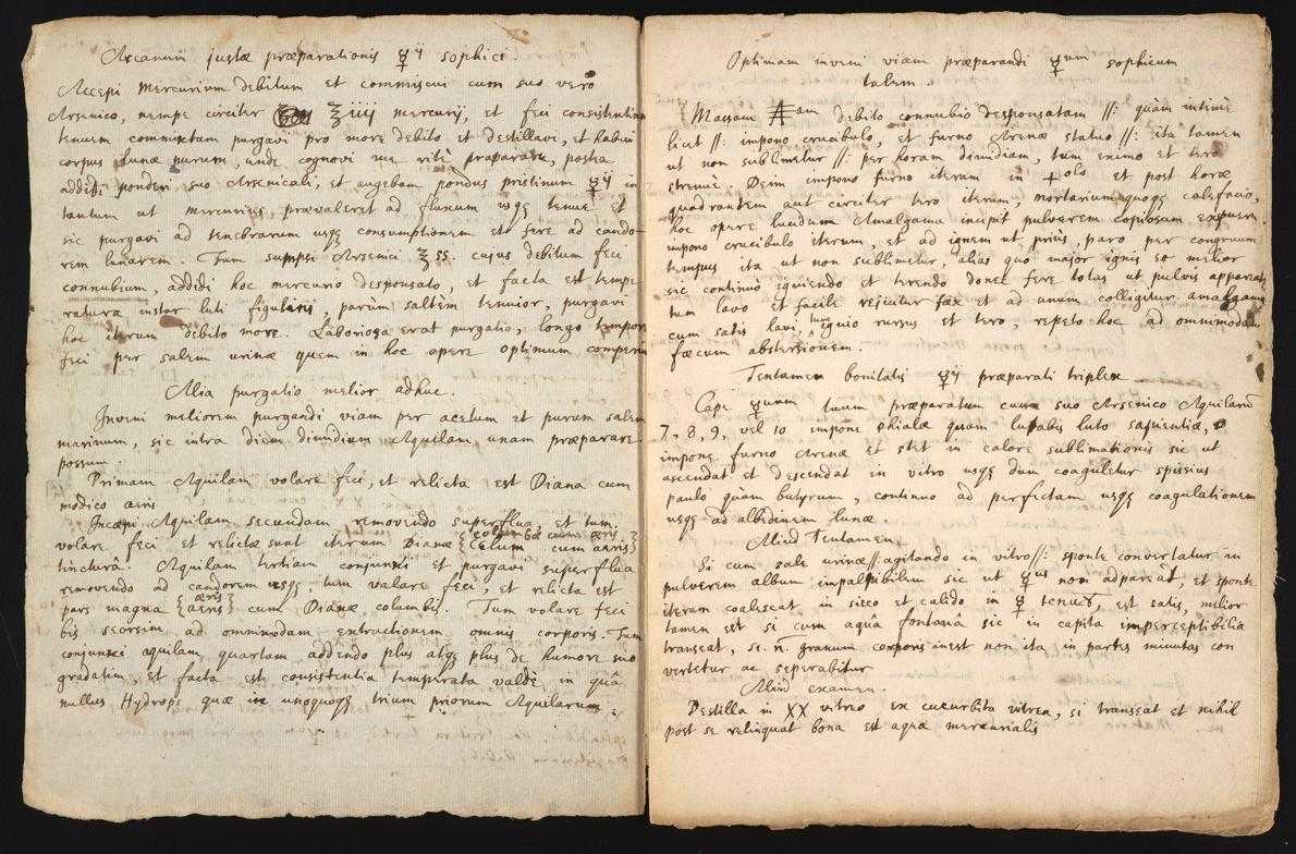 Alchemy Recipe Handwritten By Isaac Newton Has Been Rediscovered | Isaac Newton