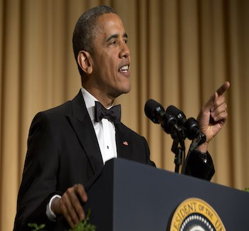 """Obama Out"": President Obama Literally Drops The Mic At White House Correspondents' Dinner 