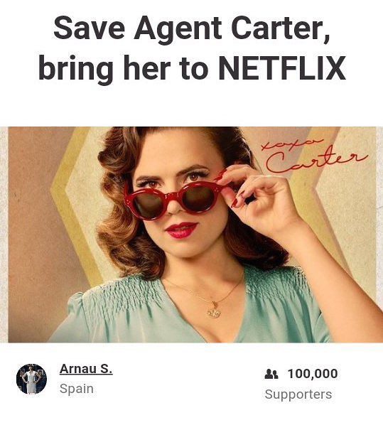 Fan Petition To Save Agent Carter Reaches 100,000 Signatures | Agent Carter