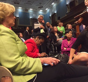 House Democrats Use Twitter To Document Sit-In | sit-in