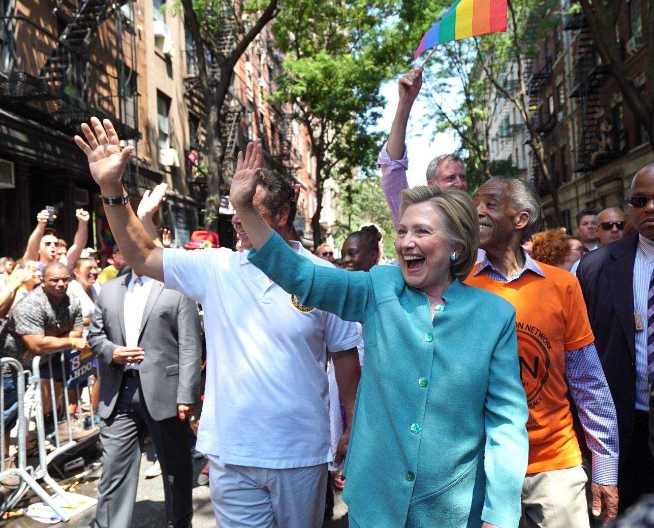 Hillary Clinton Marches In NYC Pride Parade | Hillary Clinton