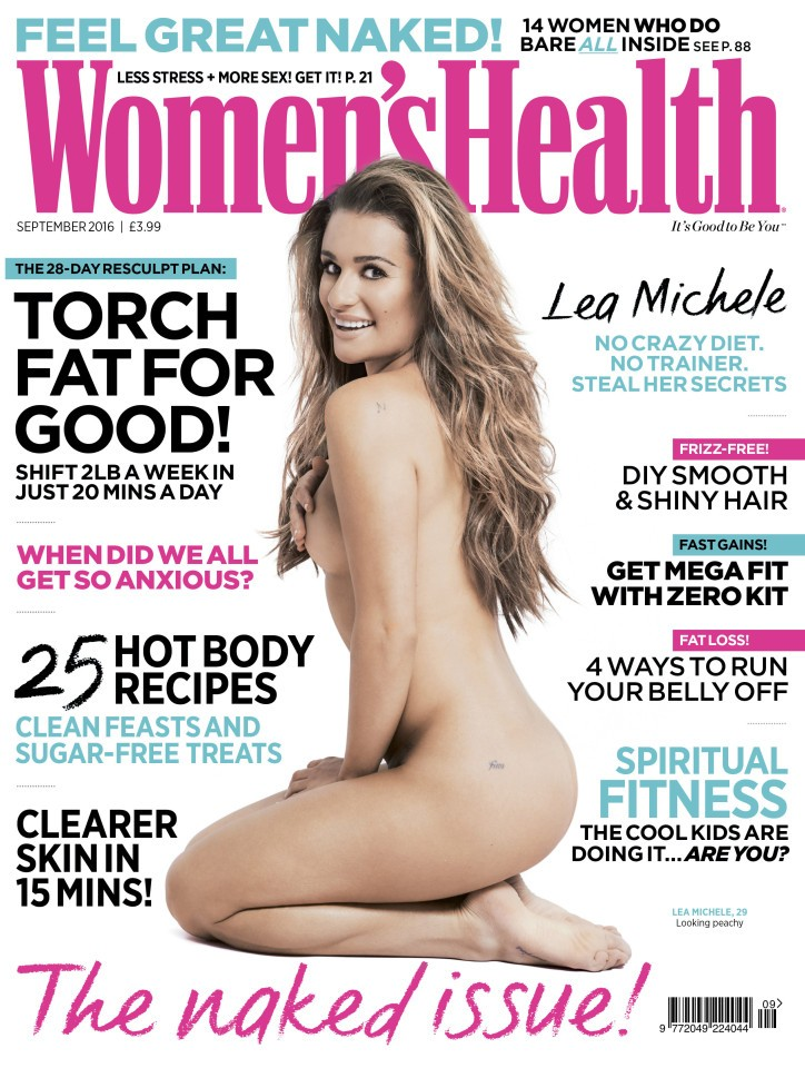 Lea Michele Reveals 'Finn' Tattoo Via Nude Magazine Photoshoot | Lea Michele