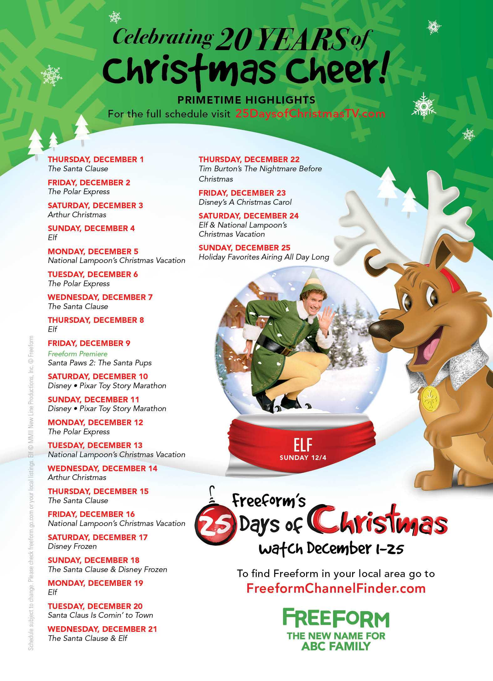 Freeform Releases Its 25 Days Of Christmas Schedule | Freeform
