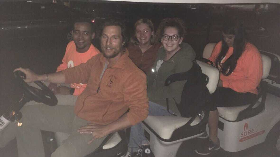 Matthew McConaughey Returns To Alma Mater To Provide Safe Rides | McConaughey