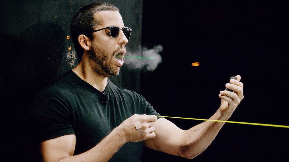 David Blaine Accidentally Shoots Himself In The Mouth | David Blaine