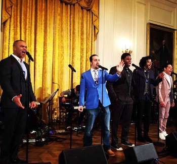 Hamilton Stars Sing One Last Time For Obama | One last time