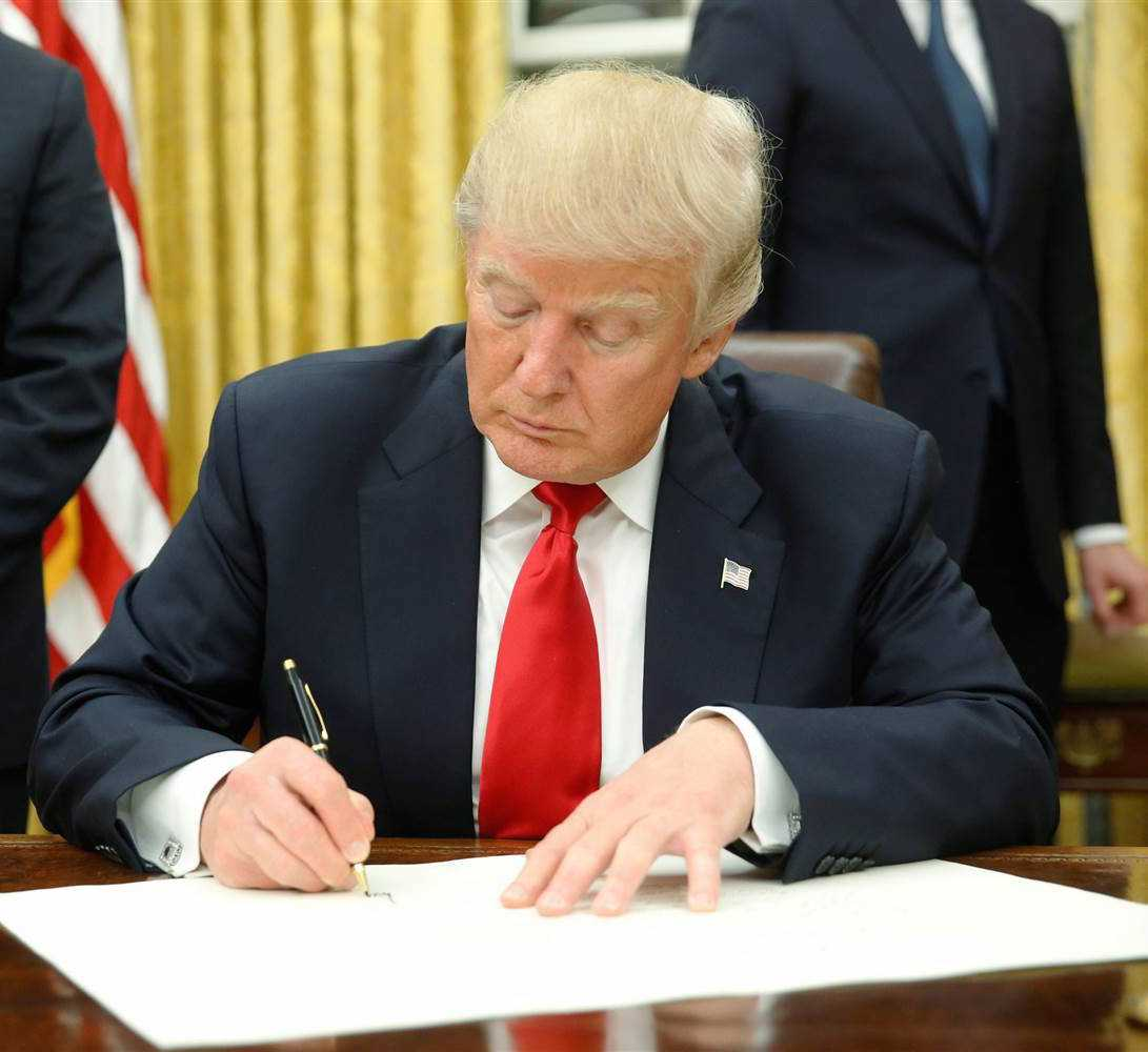 President Donald Trump Signs Three Executive Orders On First Full Day | Executive Orders