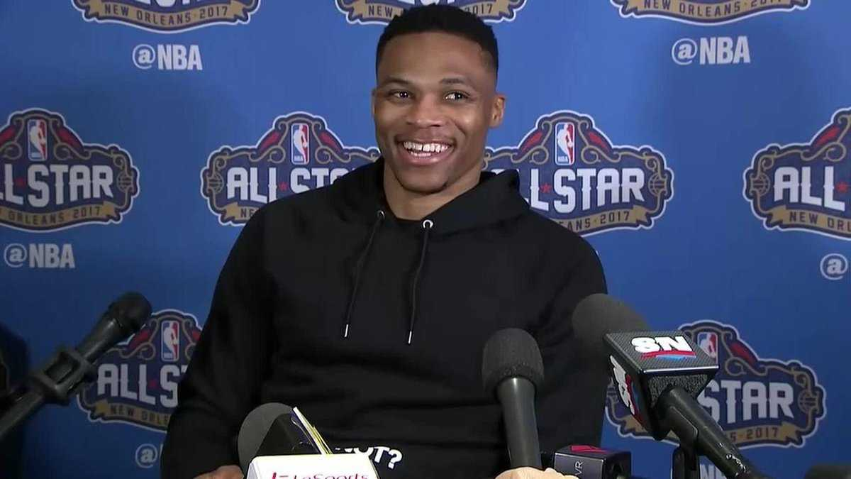 Russell Westbrook Fashionably Avoids Kevin Durant Questions | Westbrook