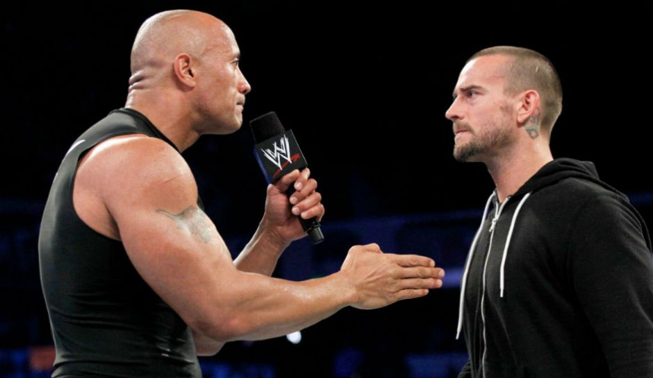 The Rock Calls CM Punk From The Middle Of The Ring Following RAW | CM Punk