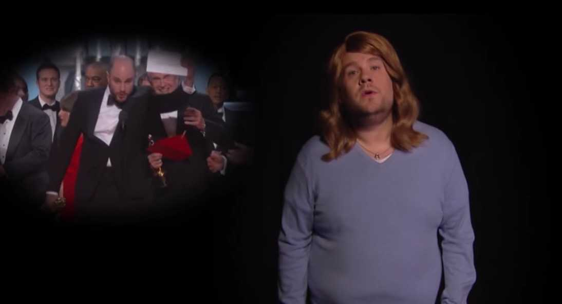 James Corden Spoofs Oscars Mixup With La La Land Parody | Corden