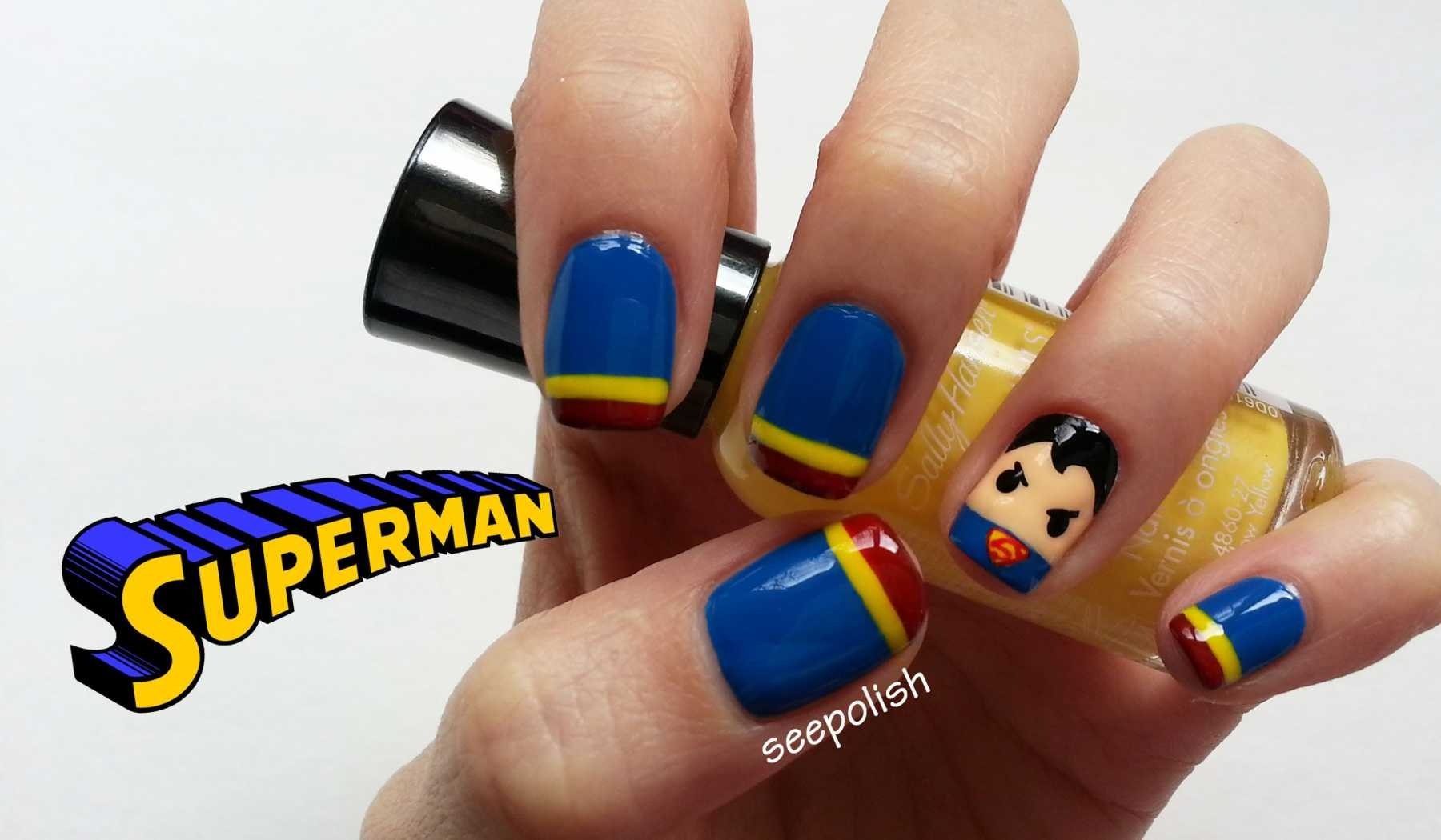 5 superhero nail art tutorials you have to try fashion popwrapped 5 superhero nail art tutorials you have to try superhero nail art prinsesfo Gallery
