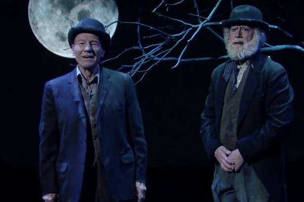 Patrick Stewart And Stephen Colbert Take On Waiting For Godot | Patrick Stewart