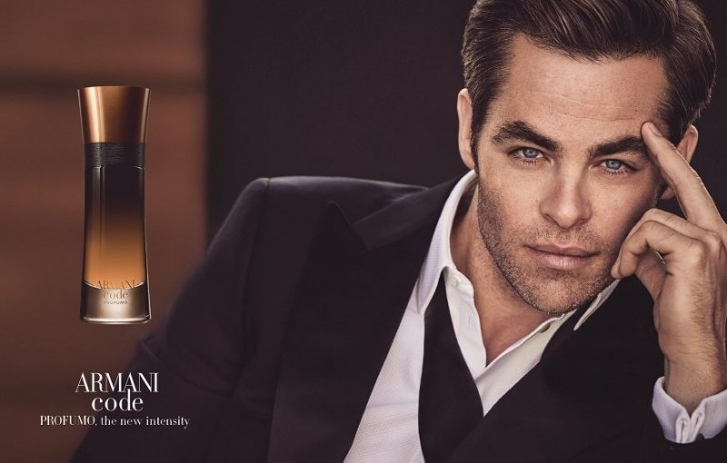 Chris Pine Is The New Face For The Armani Code Fragrance | Chris Pine