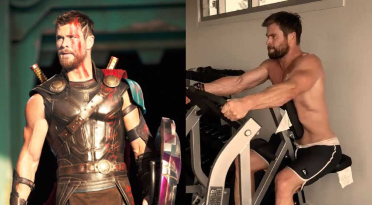 Chris Hemsworth Teaches Us How To Work Out Like A God | hemsworth