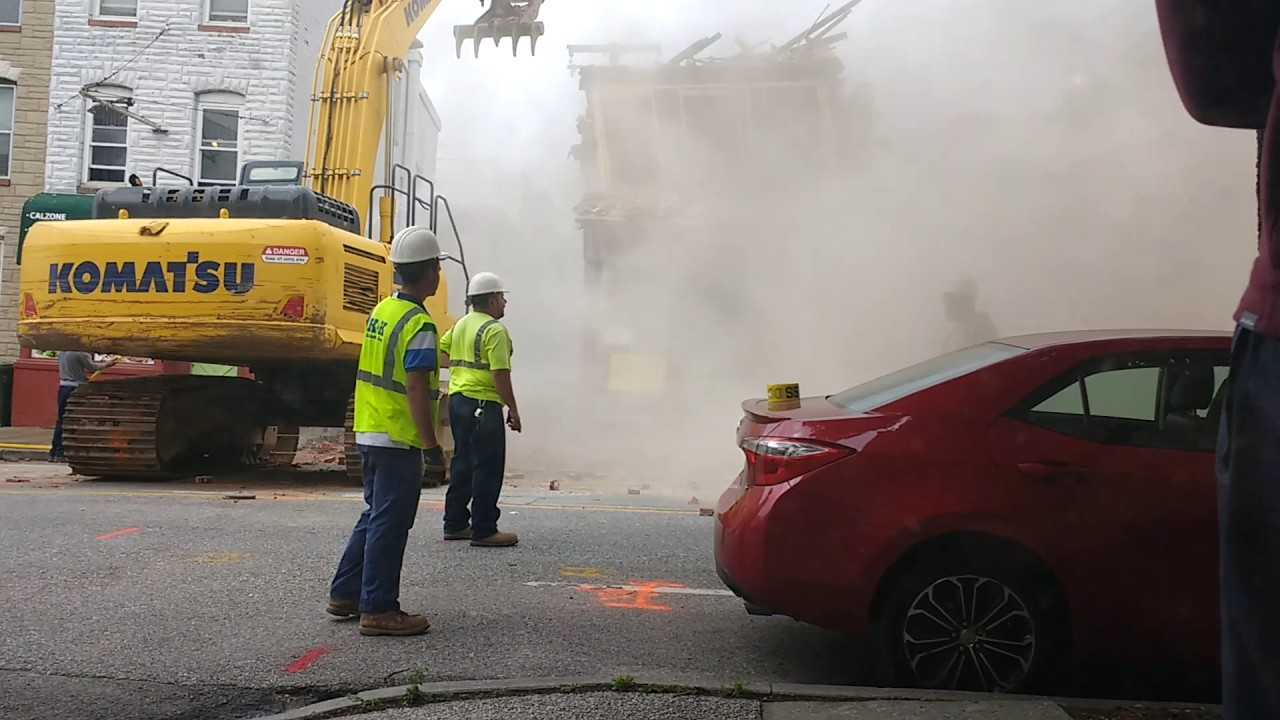 Demolition Crew In Baltimore Knocks Down The Wrong Building | demolition