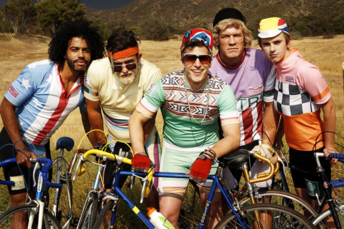 Andy Samberg Goes Cycling In Tour De Pharmacy Trailer | Andy Samberg Cycling