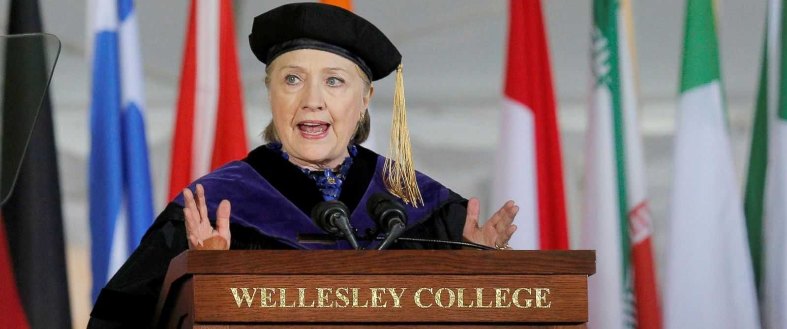 Hillary Clinton Calls Out Donald Trump In Wellesley College Speech | clinton