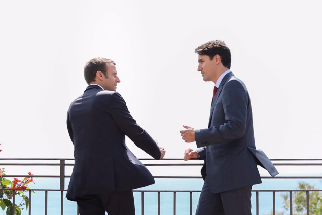 Social Media Swoons At G7 Bromance Between Justin Trudeau And Emmanuel Macron | Trudeau Macron