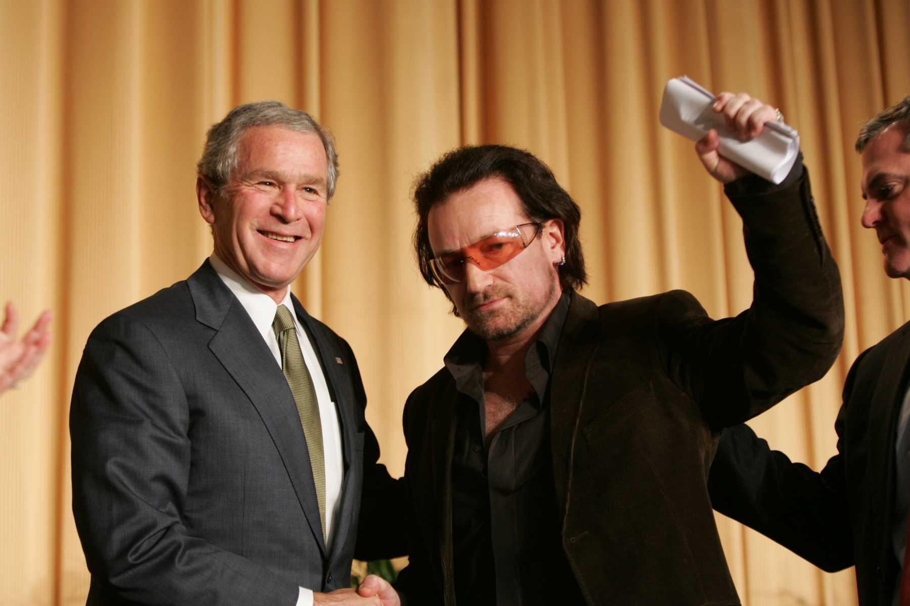 Former President George W. Bush Praises Bono For His 'Selfless Soul' | bush
