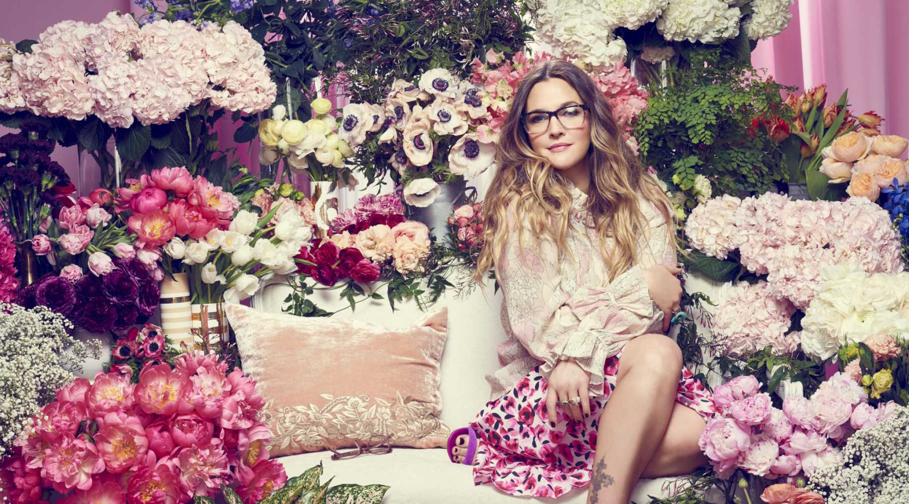 Drew Barrymore Launches Flower Press | Drew Barrymore Magazine