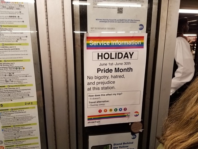 Unofficial Pride Month Posters Welcome NYC Commuters To The 'Pride Train' | Pride Month Posters