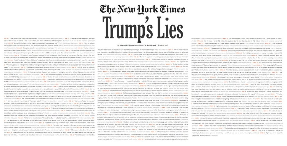 Every Lie Trump Has Told In Office | trump lies