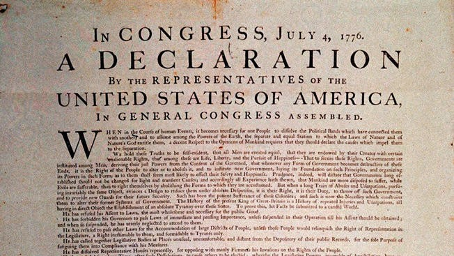 NPR Criticized For Tweeting Deceleration Of Independence | NPR