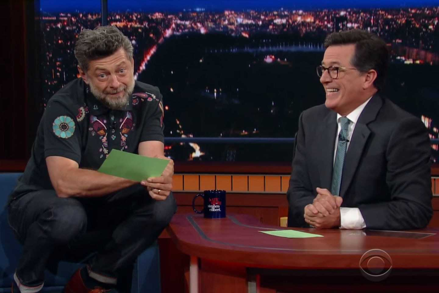 Andy Serkis Read Donald Trump's Tweets As Gollum On Stephen Colbert's 'Late Show' | Andy Serkis