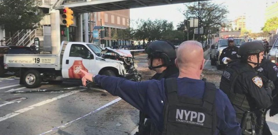 Exclusive Video: Truck Attack Kills Cyclists And Injures Several In Manhattan | Manhattan truck attack