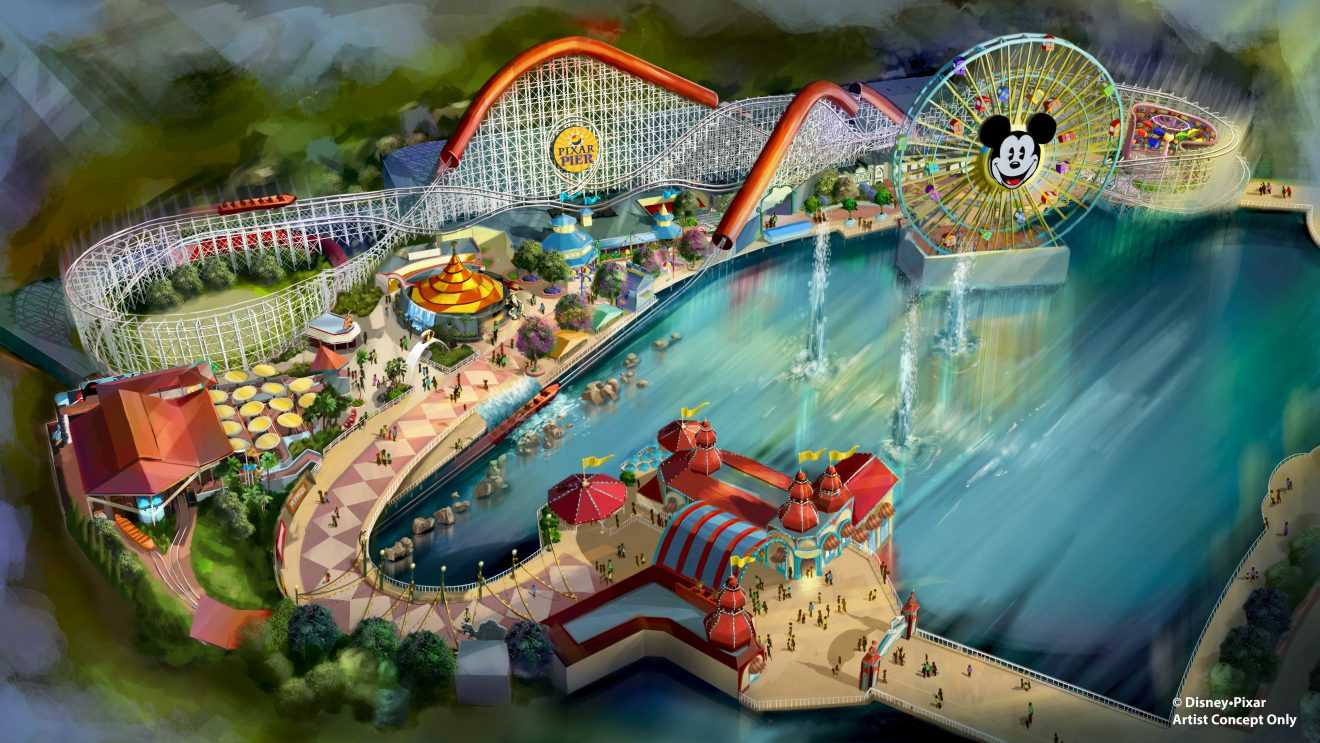 California Screamin' to Become Incredicoaster, PIXAR Pier Coming April 2018 | Pixar Pier