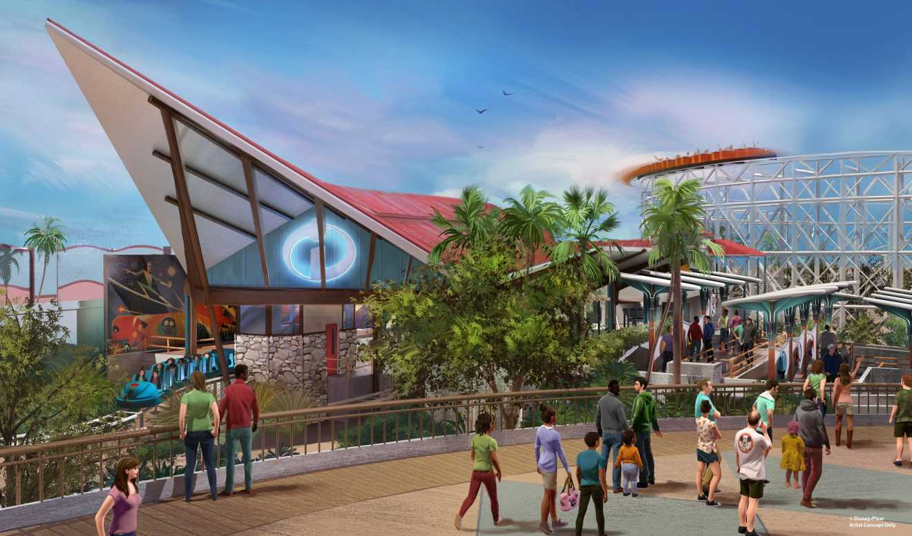 Disney's California Adventure Incredicoaster Concept Art