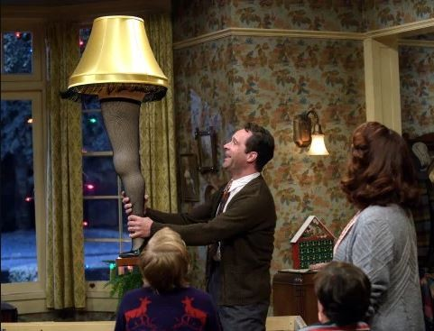 The iconic leg lamp in A Christmas Story Live