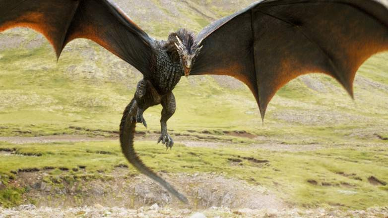 Viserion in all his fury on Game Of Thrones
