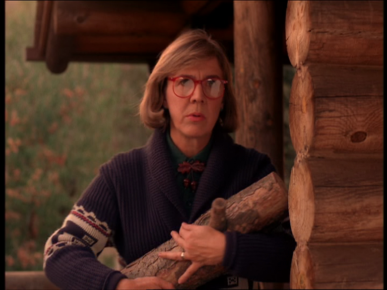 The Log Lady in the original Twin Peaks series