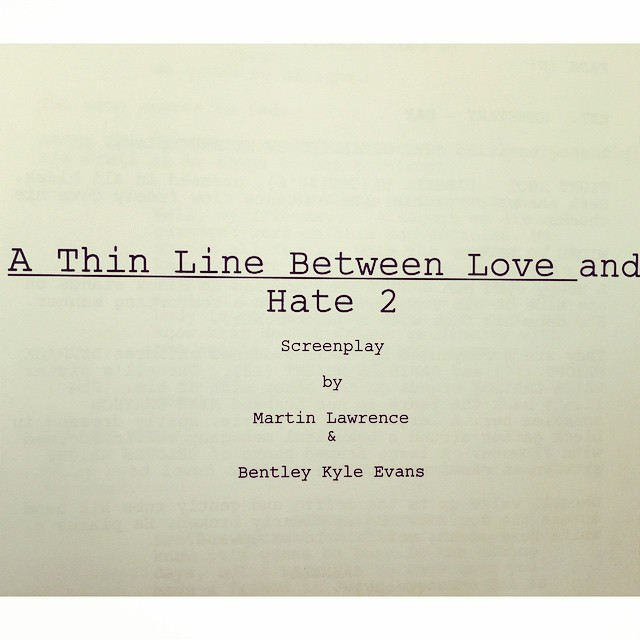 Just finished writing A Thin Line Between Love and Hate 2. Excited as a MF! #crazyderanged #comingatyou