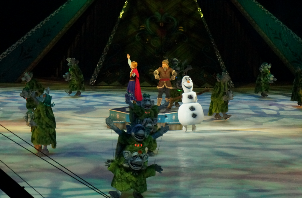 Disney On Ice Presents Frozen - Anna, Olaf and Kristoff visit the Rock Trolls