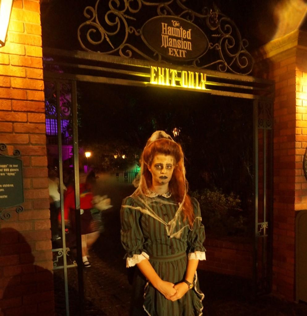 Halloween Makeup at Haunted Mansion