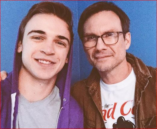 Sean and Christian Slater [Credit: Sean Grandillo/Instagram]