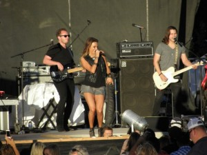 Jana Kramer getting the crowd involved at the Mid State Fair in Paso Robles, Calif. Property of Shelby Parker/PopWrapped